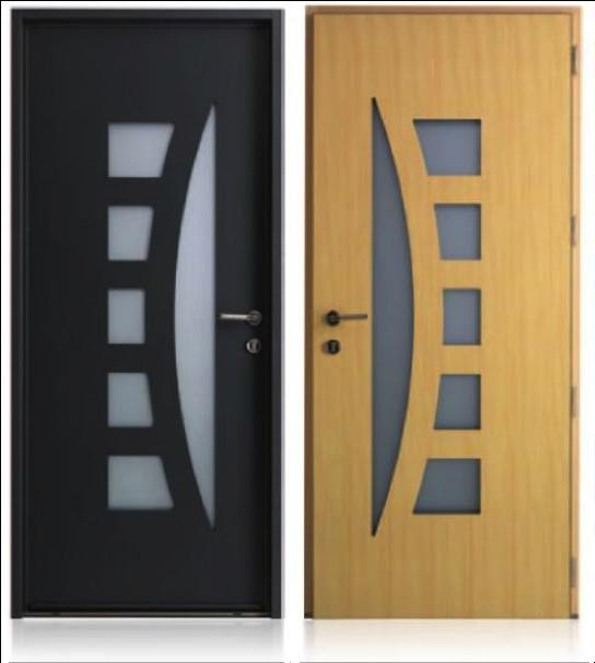 Porte d entr e mixte bois aluminium dps ouverture - Porte d entree mixte alu bois ...
